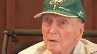 89 Year-Old Season Ticket Holder Gets to Eagles Game