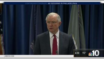 Attorney General Jeff Sessions Visits Philadelphia
