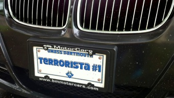 "Tsarnaev's Friend Drove with ""Terrorista #1"" Novelty Plate"