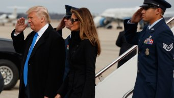 Trump Arrives in Washington With Wave and Salute