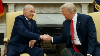 Trump Denies WH Chaos, Swears in New Chief of Staff
