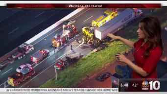 Rear-End Big Rig Wreck Slows Pennsylvania Turnpike
