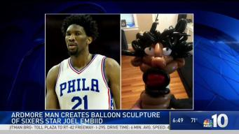 Main Line Man Pairs Love for Sixers & Balloons