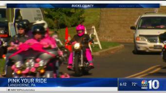 Bikers Take Part in 'Pink Your Ride' Event in Langhorne