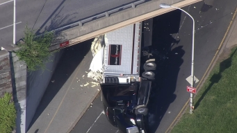 Overturned Tractor Trailer Leads to Delays Near Art Museum
