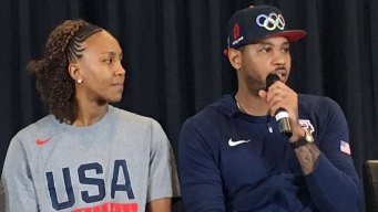 Carmelo Anthony Leads Talk With Cops and Kids