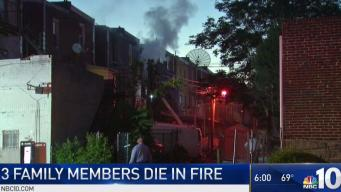 Couple and Grandson Killed in Philly Row Home Fire