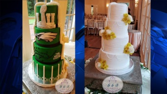 Couple Has Amazing Eagles Super Bowl Wedding Cake