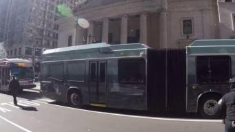 Eagles Fans Irked When Buses Block Super Bowl Parade