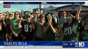 Eagles Nation Shows Up in California