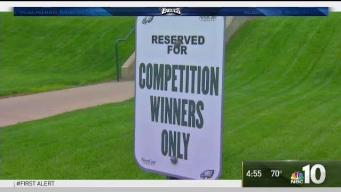 Eagles Players Compete for Parking Spot