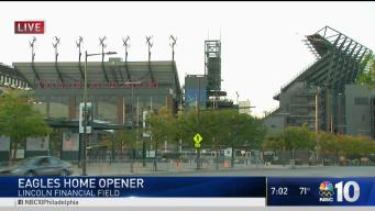 Fans Gather SUPER Early for Eagles Home Opener
