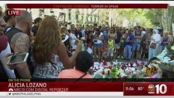 NBC10 in Spain Covering Terror Attack