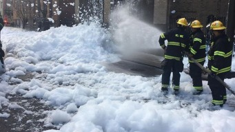 Foam Floods Center City Street