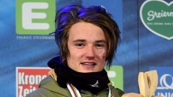 Olympian Fabian Bösch Rides Escalator With One Hand