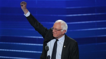Bernie Sanders Speaks on Day 1 of DNC