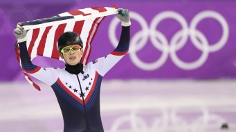 Team USA's Krueger Competes in 500m Short Track Qualifying