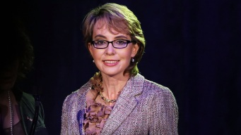 Gabby Giffords Visits Newtown