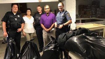 Police Donate 500 Pounds of Shoplifted Clothes to Poor
