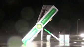 Hurricane Florence Causing Damage Ahead of the Eye Coming on Shore