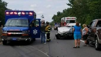 Crash Injures 2 Teens, 2 Children on Northeast Extension