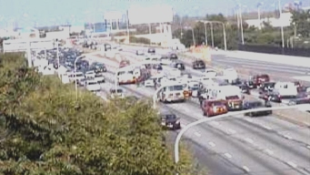 9 Cars Involved in Crash on I-95 in Port Richmond