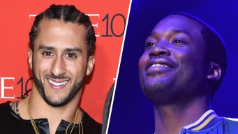 QB Colin Kaepernick Converses With Meek Mill