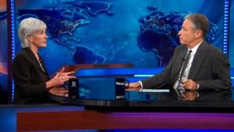 Jon Stewart Grills Kathleen Sebelius on Obamacare