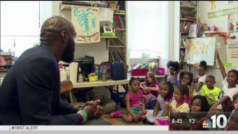 Malcolm Jenkins Visits University City School
