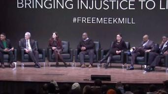 Meek Mill Makes Surprise Call Into Justice Rally