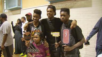 NBA Star Kyle Lowry Gives Backpacks to Philly Students