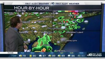 NBC10 First Alert Weather Showers Less Humid