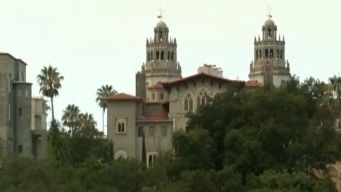 Wildfire Flames Threaten Historic Hearst Castle