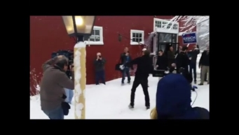 WATCH: John Kasich's Snow Day in N.H.