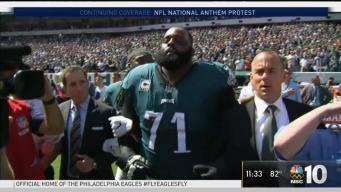 Eagles Unite for National Anthem Moment