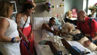 Boston Bombing Survivors Visit Orlando Massacre Victims