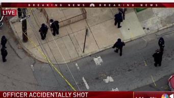 Philadelphia Police Officer Struck By Errant Bullet