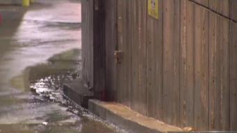 Broken Pipe Sends Water From Center City Marriott