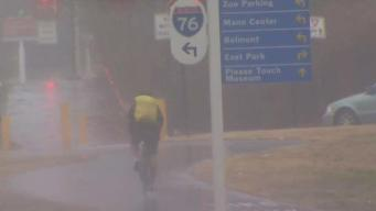 After Days of Weather Extremes, Rain Drenches Philly