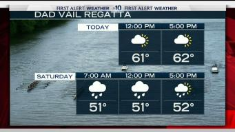 Rain to Hit Dad Vail Regatta