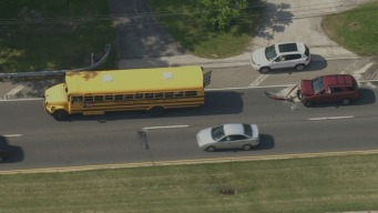 School Bus, Car Involved in Crash