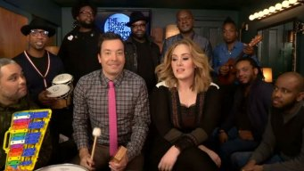 Adele, Fallon Sing 'Hello' With School Instruments