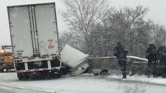 Slippery Conditions Lead to Crashes, Speed Restrictions
