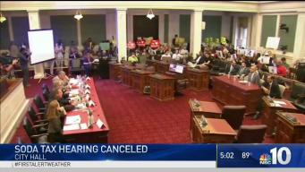 Soda Tax Hearing Canceled