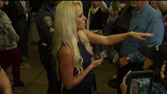 Supporters and Protesters Show up for Tomi Lahren Event