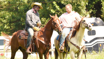 Idris Elba Hits North Philly on Horseback for New Film