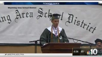 Valedictorian's Mic Cut Off While He Criticizes School Administrators