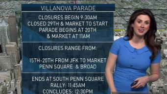 Road Closures for Villanova Victory Parade