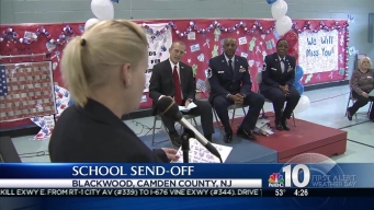 Assistant Principal Gets Hero's Send-Off