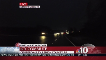Snow Causes Wet Commute in Lehigh County